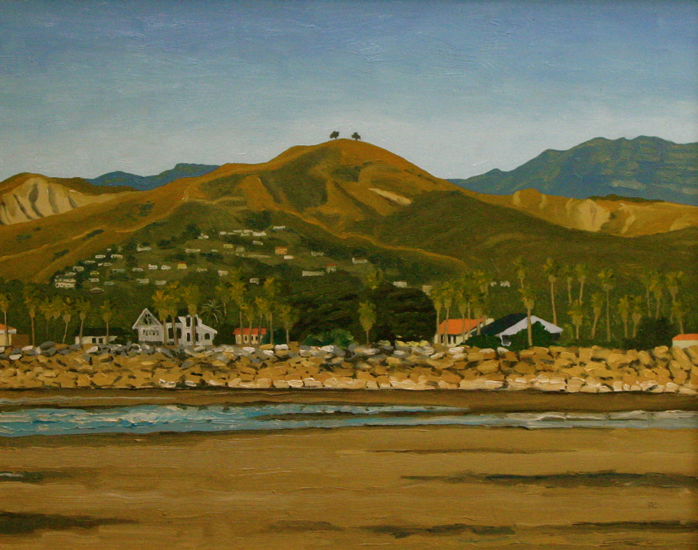 """Two Tree Low Tide Afternoon"" oil on canvas 22 x 28 sold"