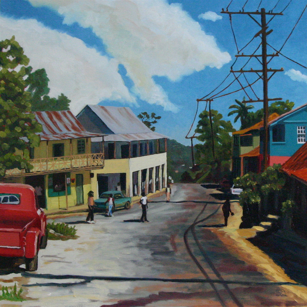 """Walderston, Jamaica"" oil on canvas 24 x 24 collection of the artist"
