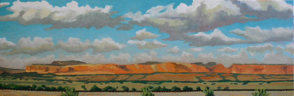 """New Mexico Monsoon"" oil on canvas 12 x 36"