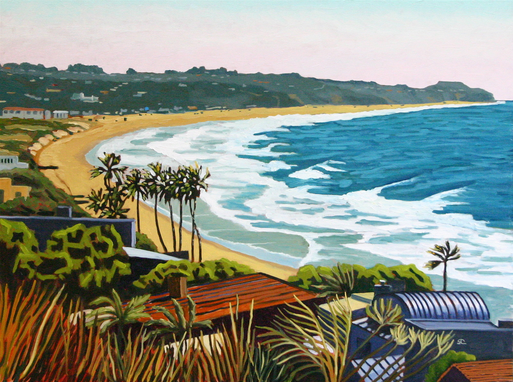 """Windy Zuma Day"" oil on canvas 30 x 40"