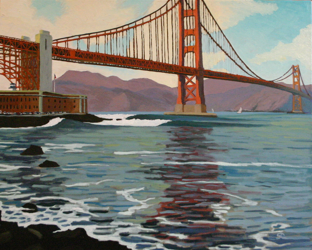 """Fort Point, San Francisco"" oil on canvas 24 x 30"