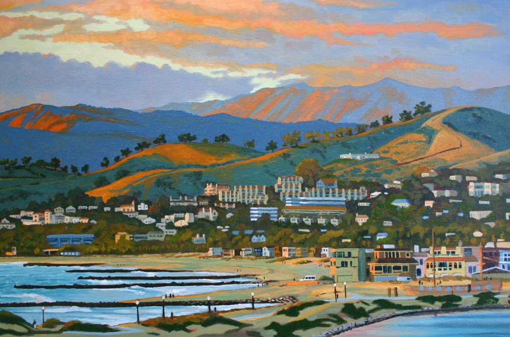 """Pierpont Sunset Glow"" oil on canvas 28 x 42 sold"