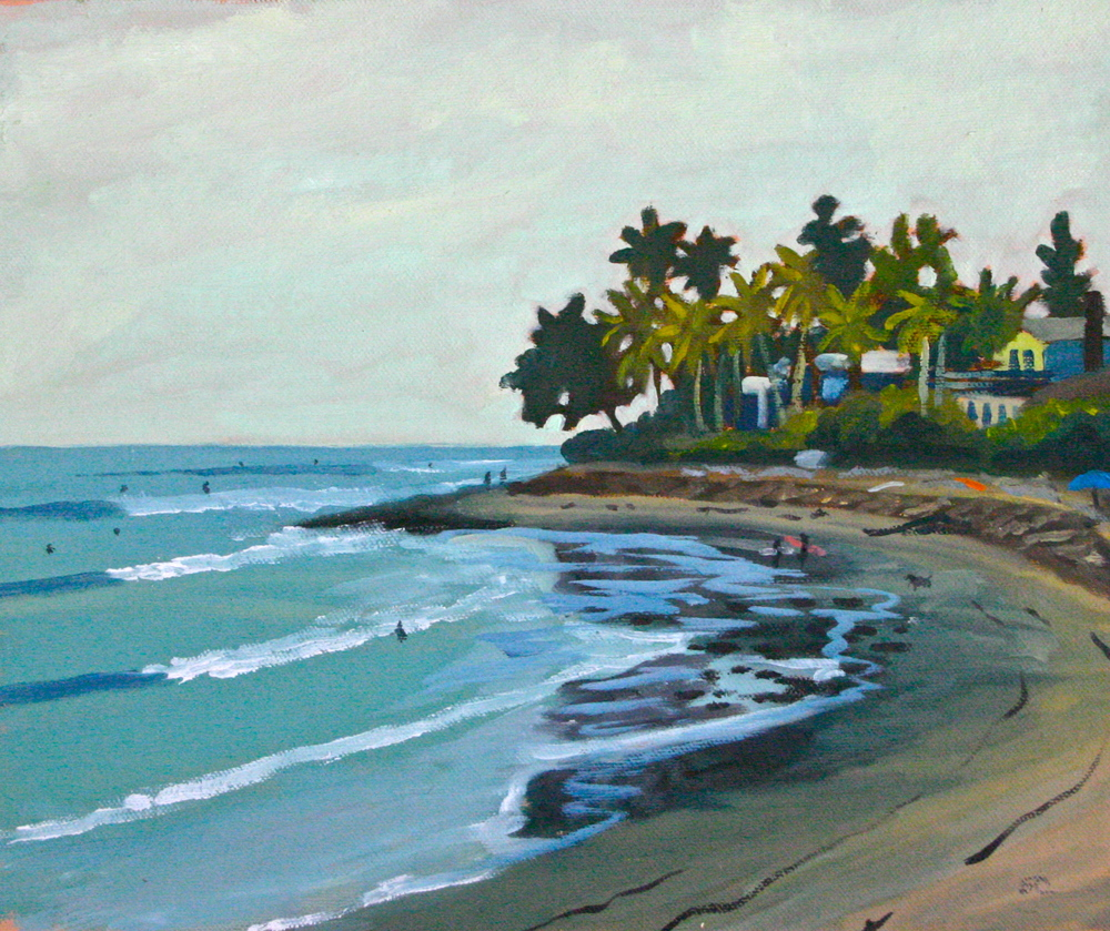 """Rincon Low Tide"" oil on panel 10 x 12 sold"
