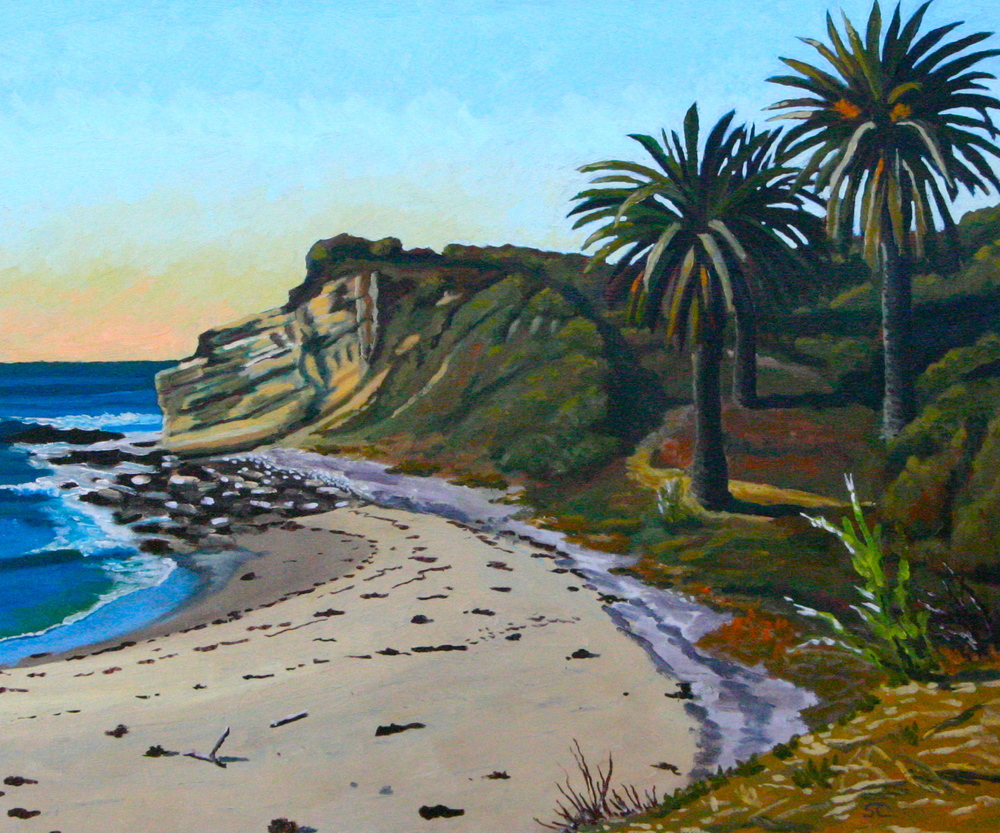 """Refugio Point"" oil on canvas 20 x 24"