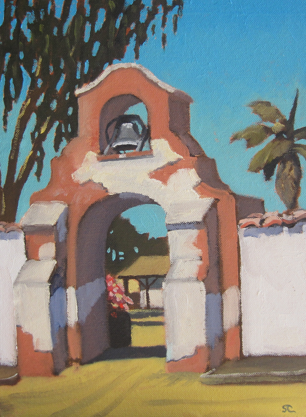 """Olivas Adobe Gate"" oil on panel 10 x 12 sold"