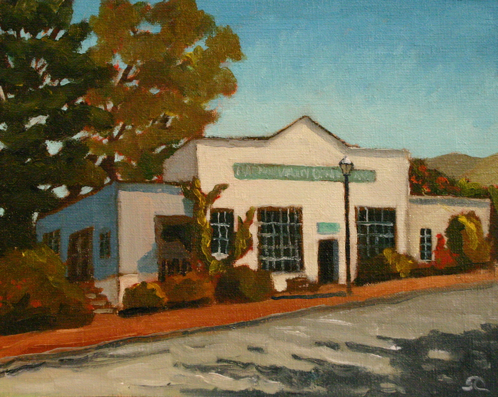 """Harmony Post Office"" oil on canvas 8 x 10 sold"