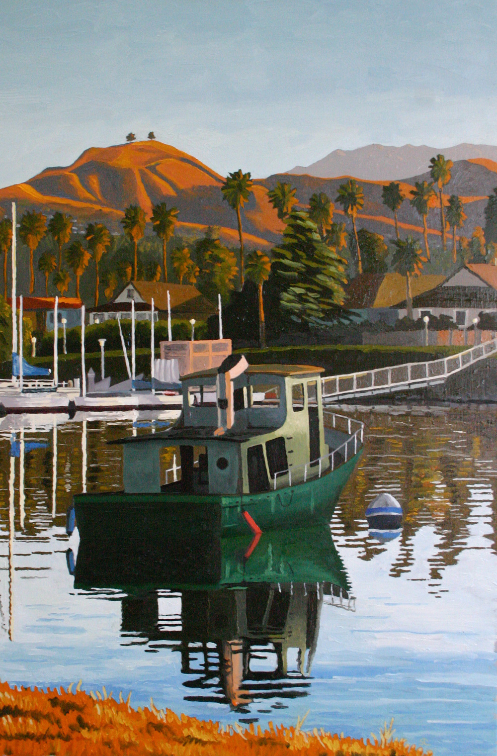 """Mystery Boat"" oil on canvas 24 x 36 sold"