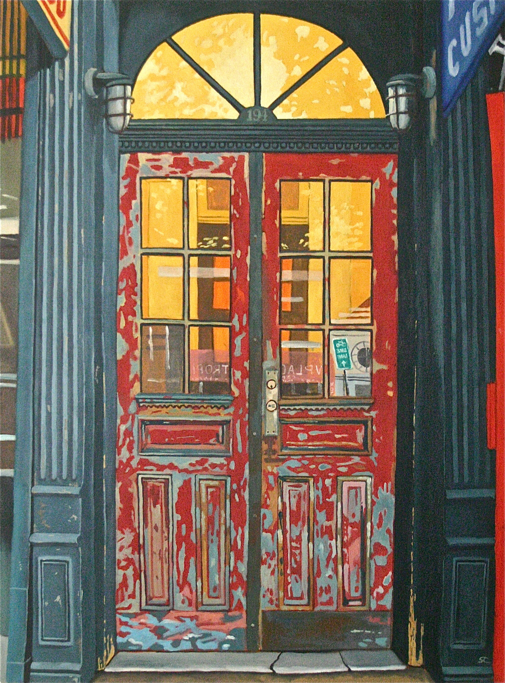 """194 Bleecker Street, Greenwhich Village, NYC"" oil on canvas 36 x 48  SOLD"