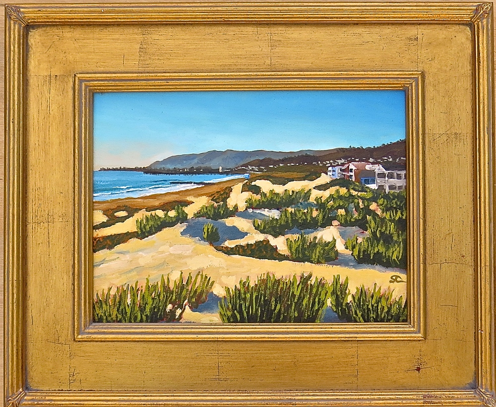 """Yvonne's Dunes"" oil on panel 9 x 12  sold"