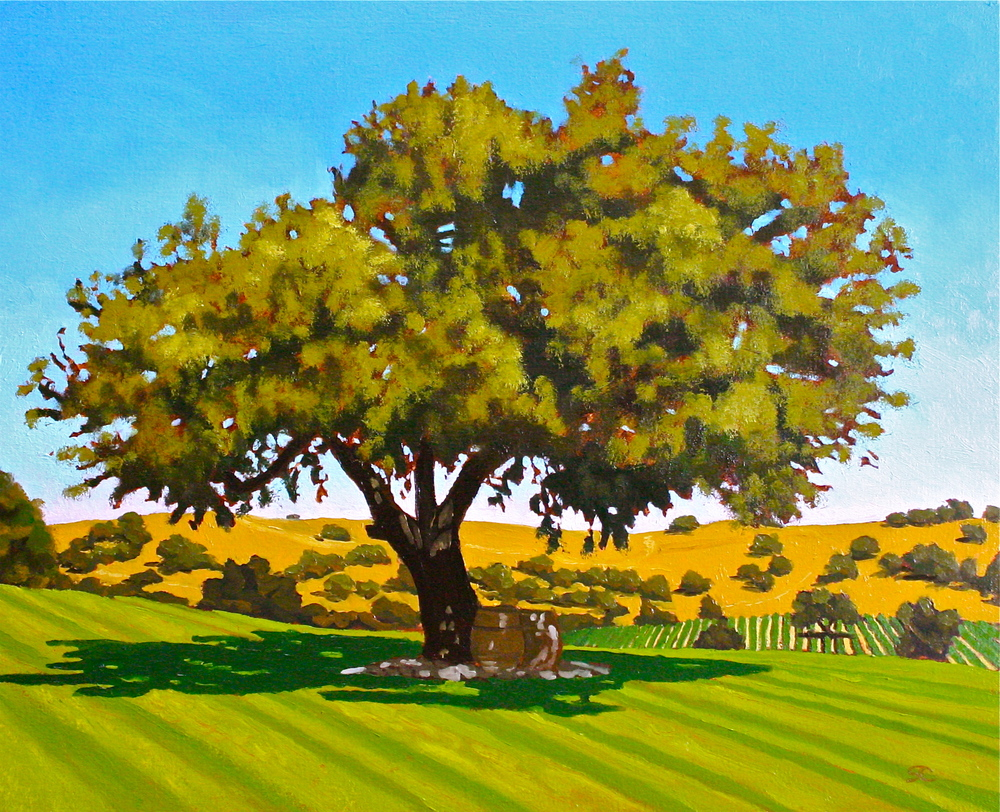 """The Wedding Tree"" oil on canvas 16 x 20  sold"