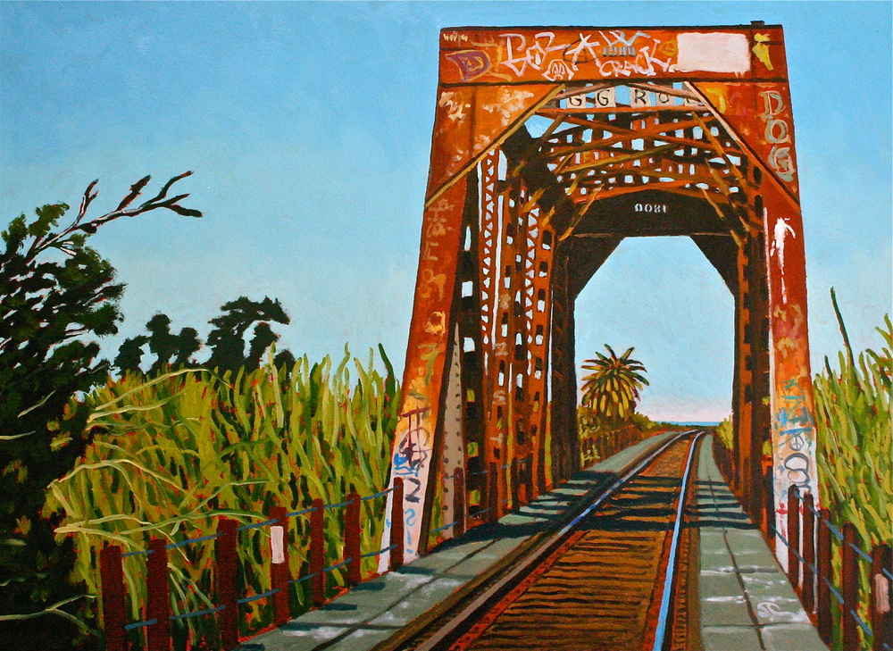 """Trestle at Hobo Jungle"" oil on panel 18 x 24"
