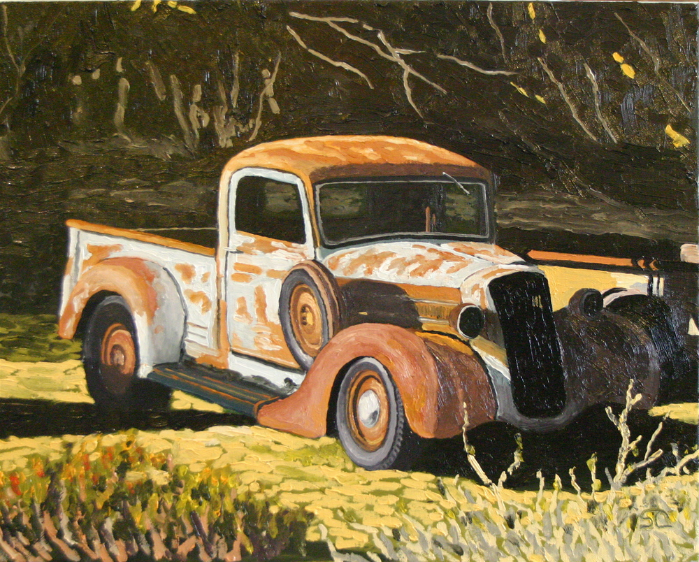 """Retired Rust"" oil on canvas 16 x 20  sold"