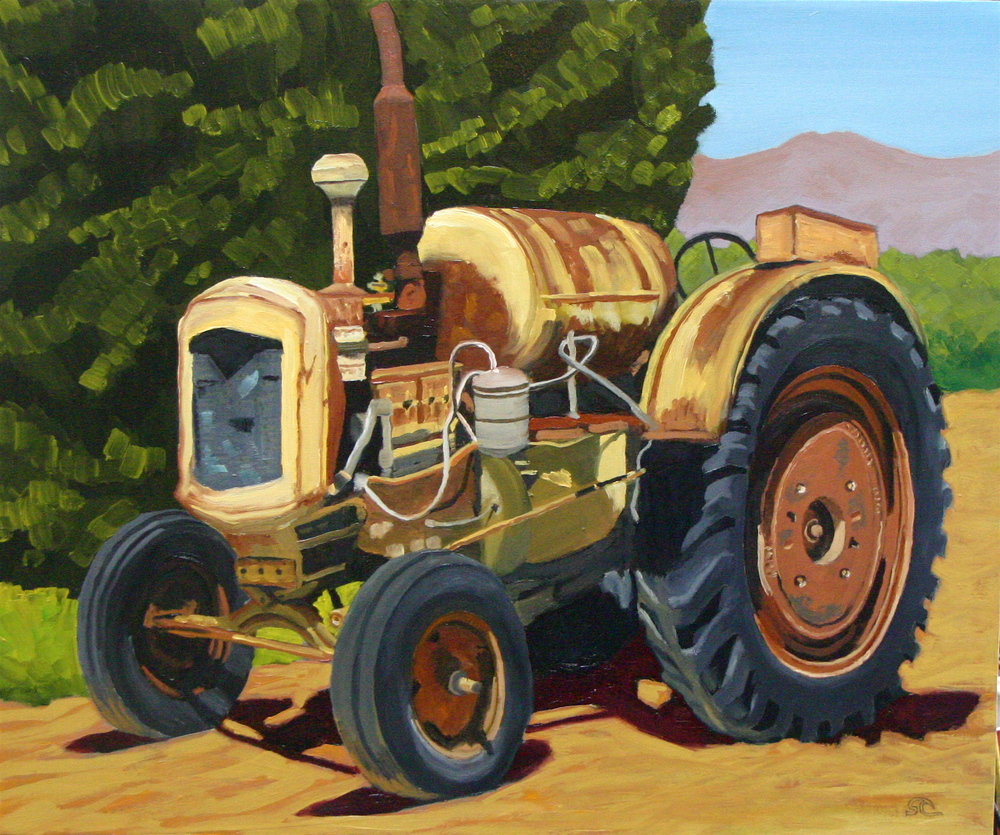 """Jim's Tractor"" oil on canvas 20 x 24"