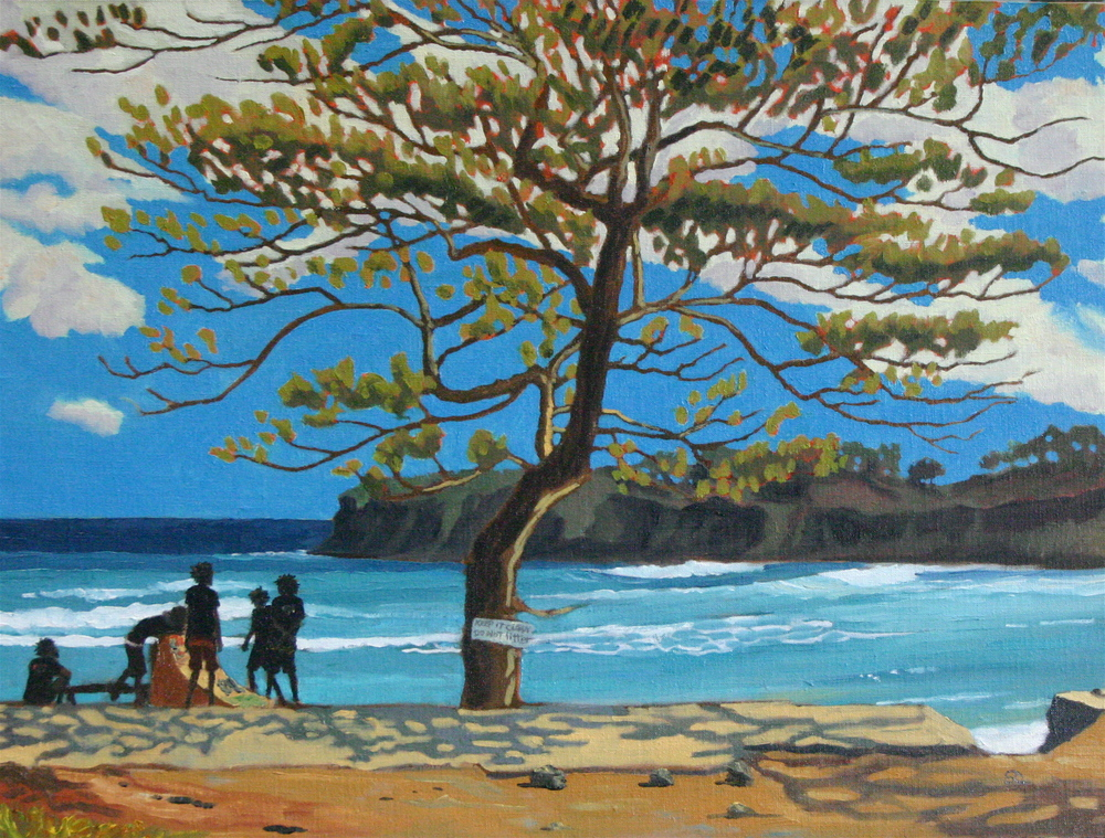 """Boston Bay, Jamaica"" oil on canvas panel 18 x 24  sold"