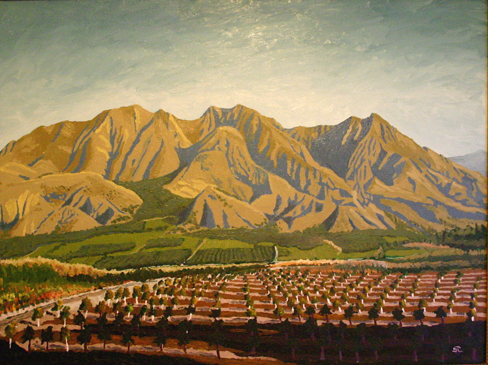 Santa Paula Peak  oil on canvas 30x40