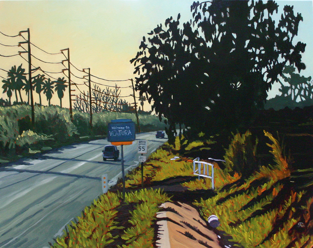 Welcome to Town  oil on canvas 24  x 30  SOLD
