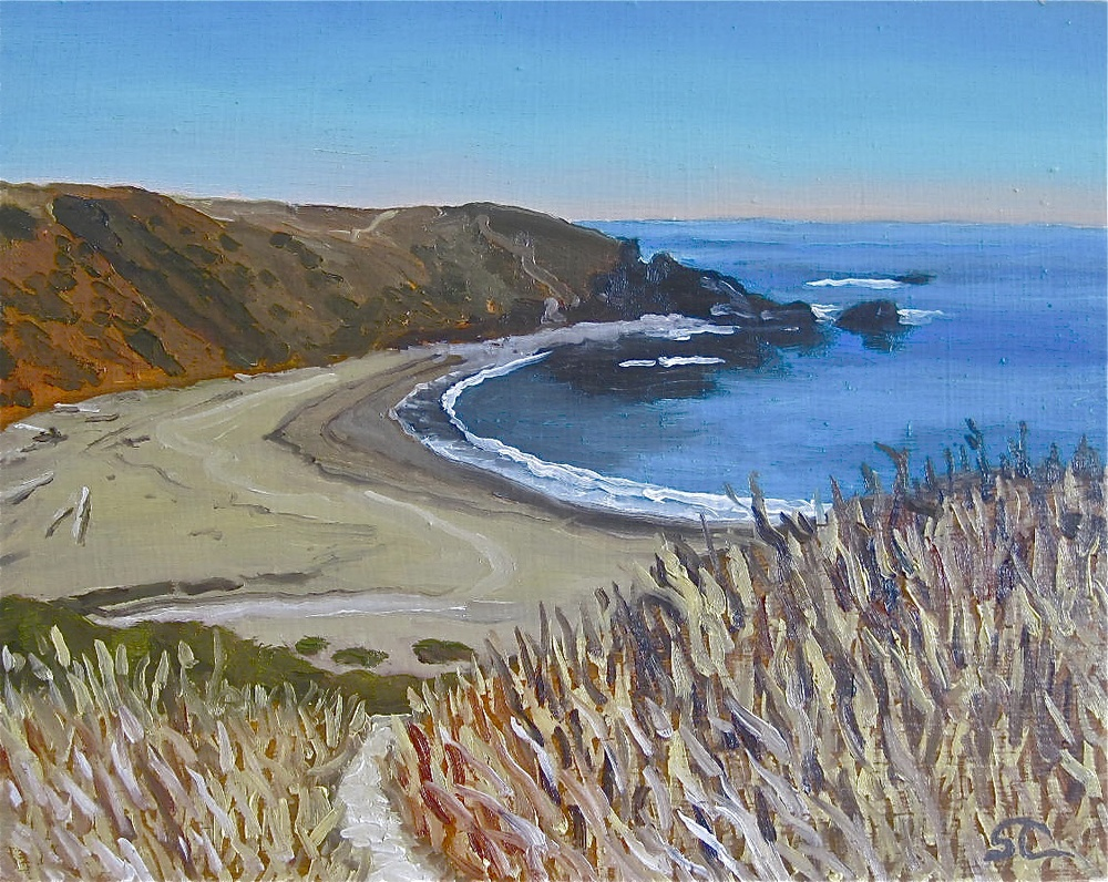 Fort Ross Cove    oil on canvas 8 x 10