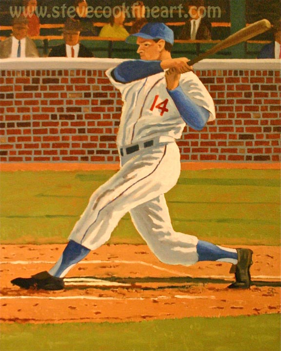 """Crack of the Bat"" oil on canvas 24 x 30"