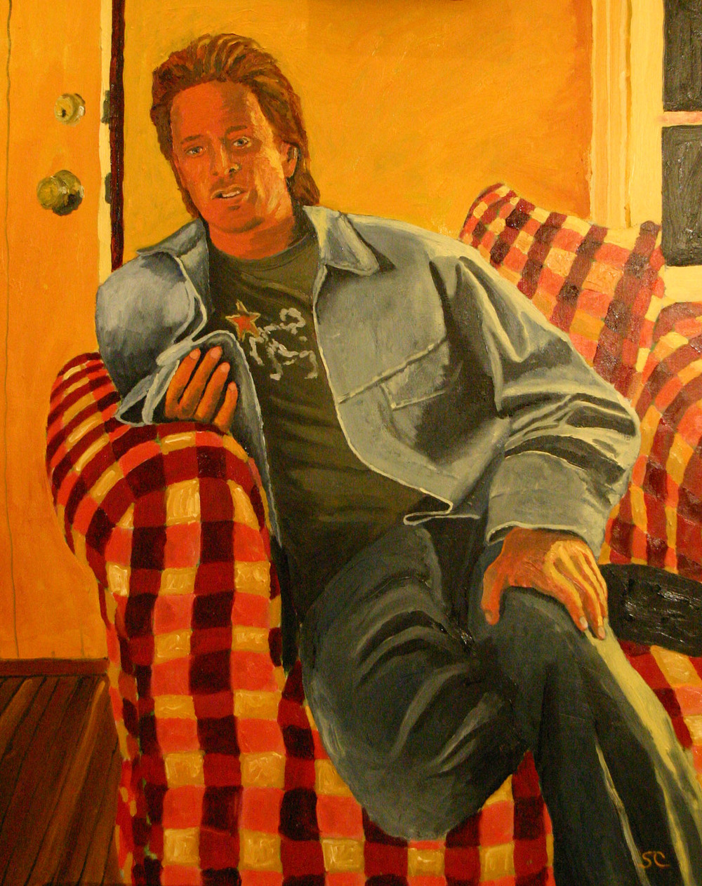 """Joshua, September 2004"" oil on canvas 24 x 30"