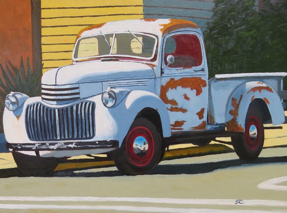 """""""41 on a Side Street"""" oil on birch panel 18 x 24"""