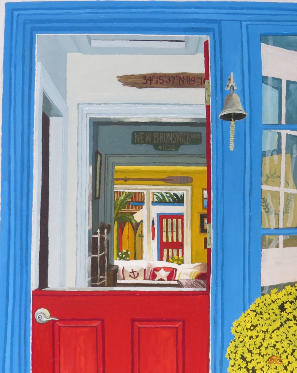 """""""Dutch Door and Arches"""" oil on canvas 24 x 30"""