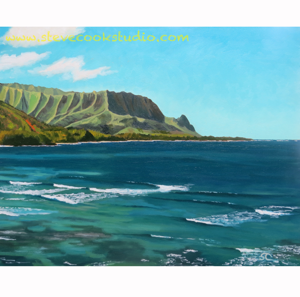 """Hideaways Vista, Kauai"" oil on canvas 24 x 30"