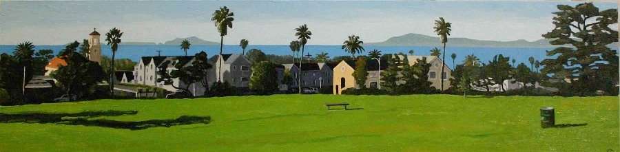Island View   oil on canvas 12 x 48