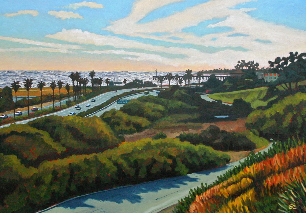 Vista Del Mar Wedding Day  oil on canvas 28 x 40