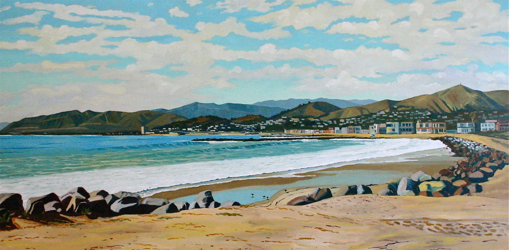 Pierpont Bay  oil on canvas 30 x 60