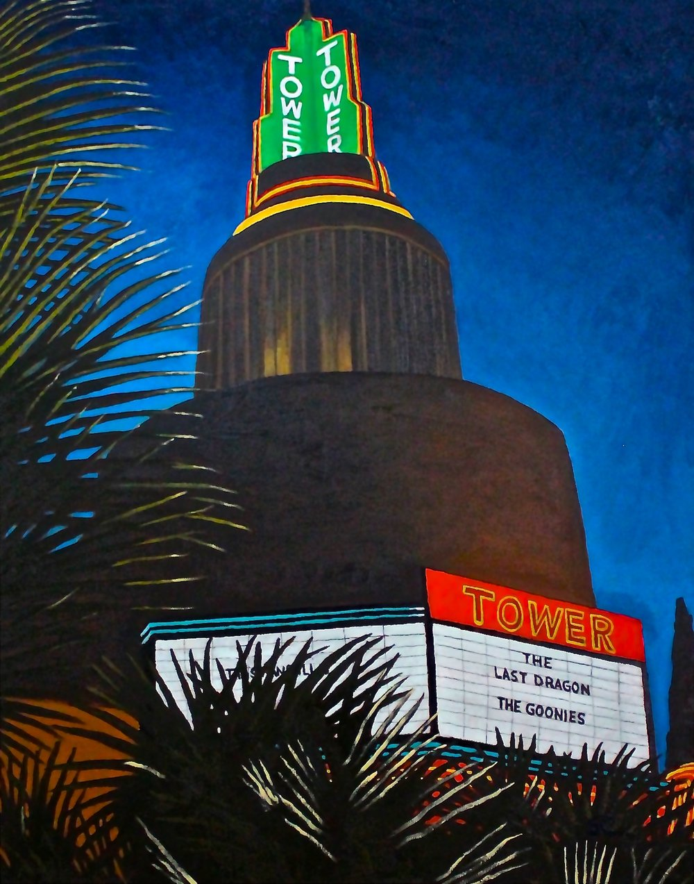 """Tower Theater""  oil on canvas 24 x 30"