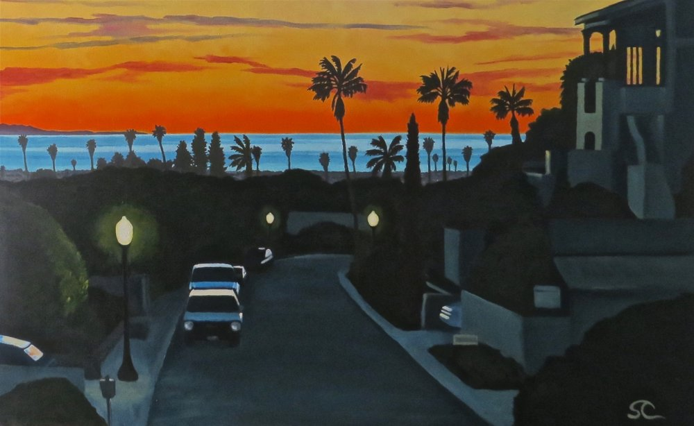 """Last Light"" oil on canvas 30 x 48"