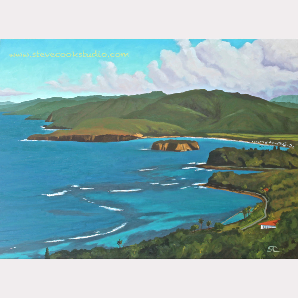 """Port Maria, Jamaica"" oil on canvas 30 x 40"