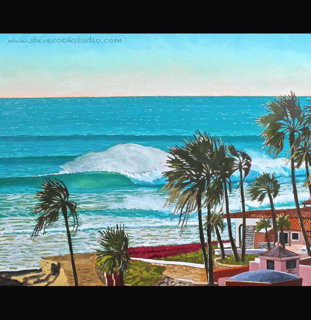 """""""Offshore Day at Las Gaviotas"""" oil on canvas 24 x 30"""