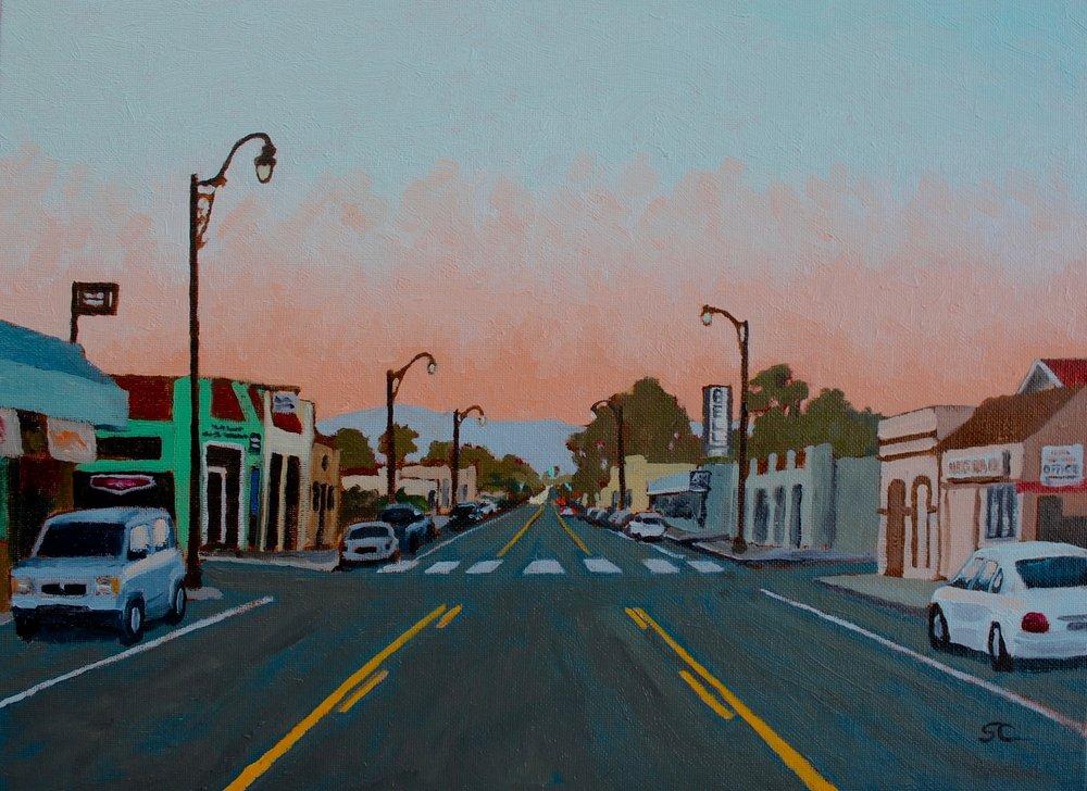 """""""La Avenida"""" oil on panel 12x16"""