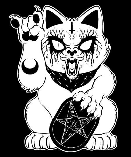 Heavy Metal Lucky Cat Tee