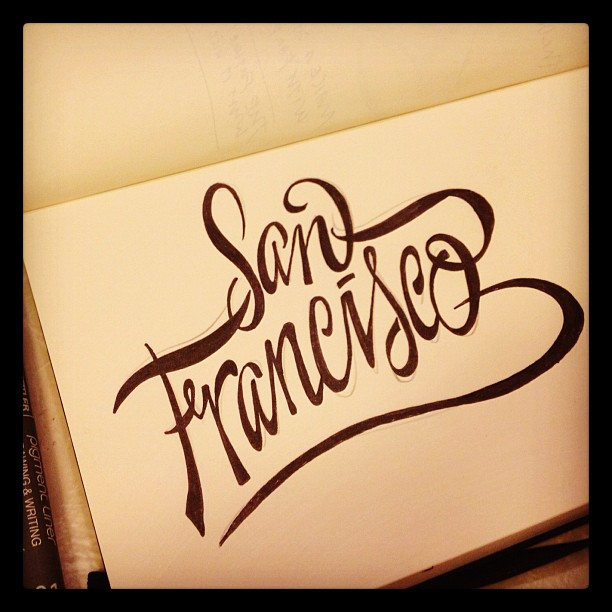 john suder san francisco hand lettering