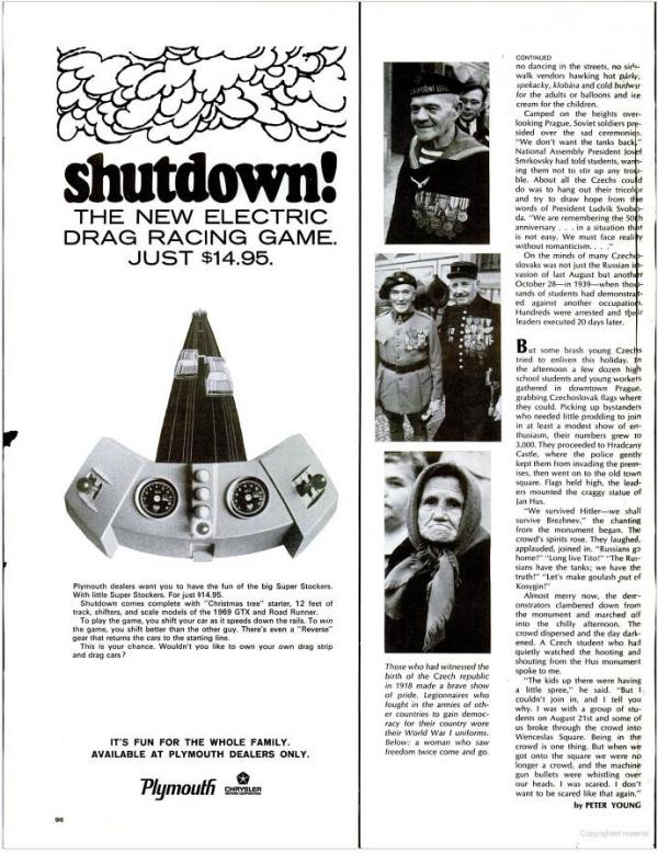 Plymouth Shutdown Life Magazine Ad 1968
