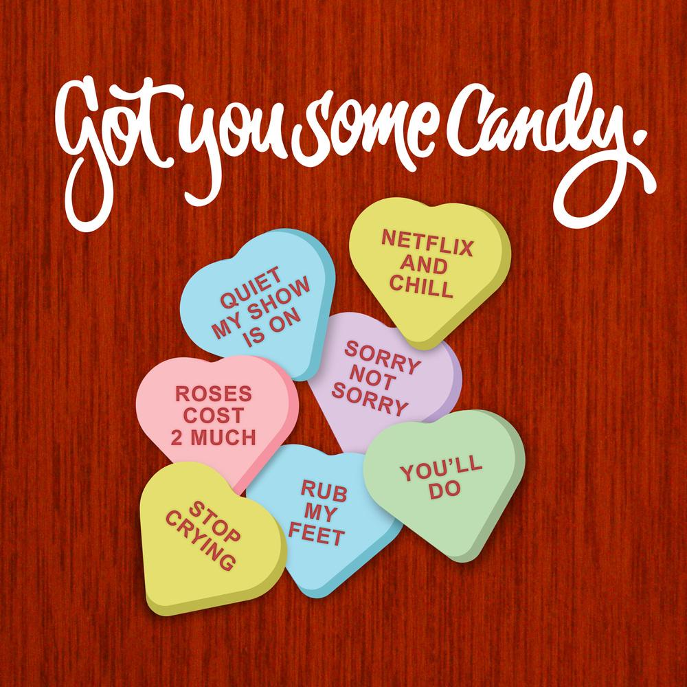 cruel candy valentine hearts