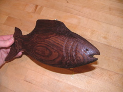 Carved Redwood Fish