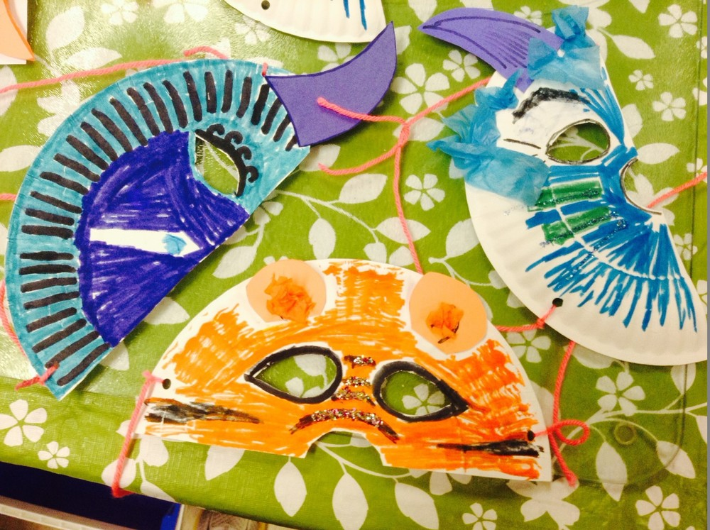 Animal masks - Animal Planet Day - March 2014