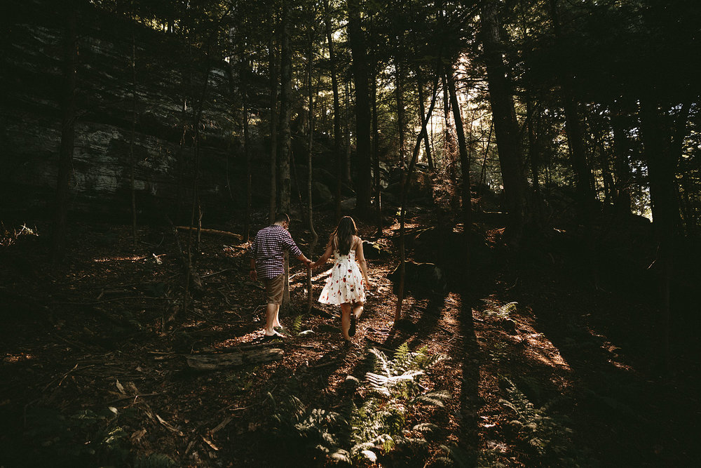 Samantha and Greg were ready for adventure in their  engagement photography  and at their  wedding !