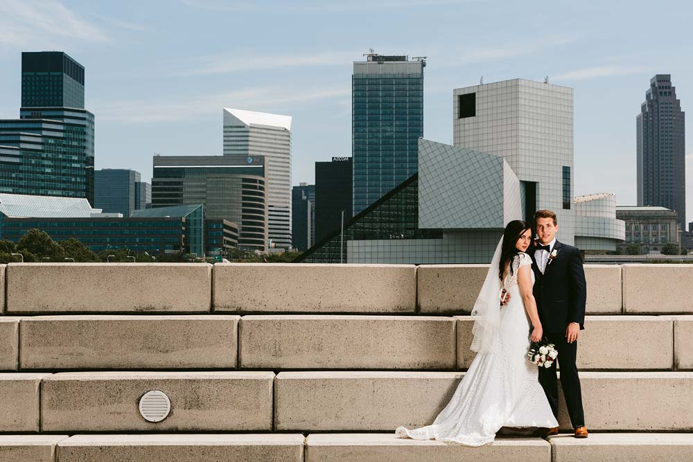 Modern Wedding Photography in Downtown Cleveland, Ohio - DARIA + ALCUIN