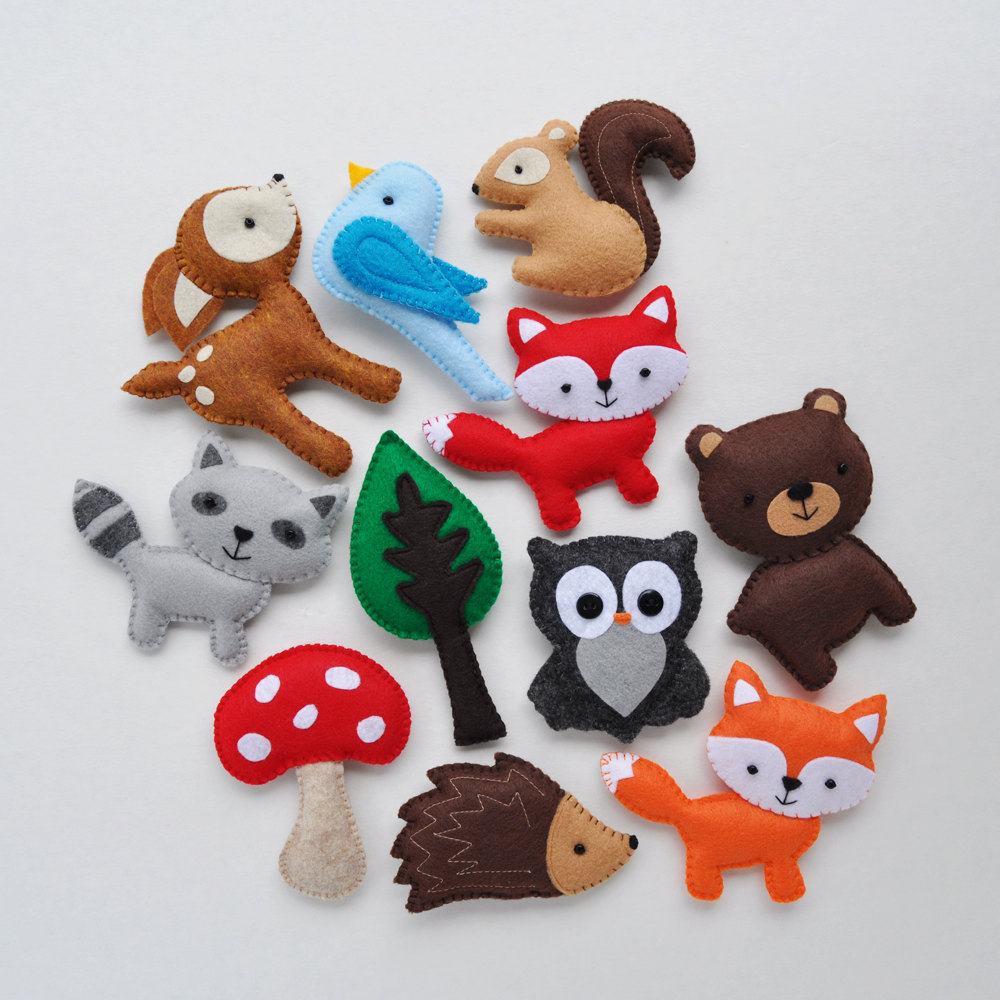 Plush Woodland Creatures