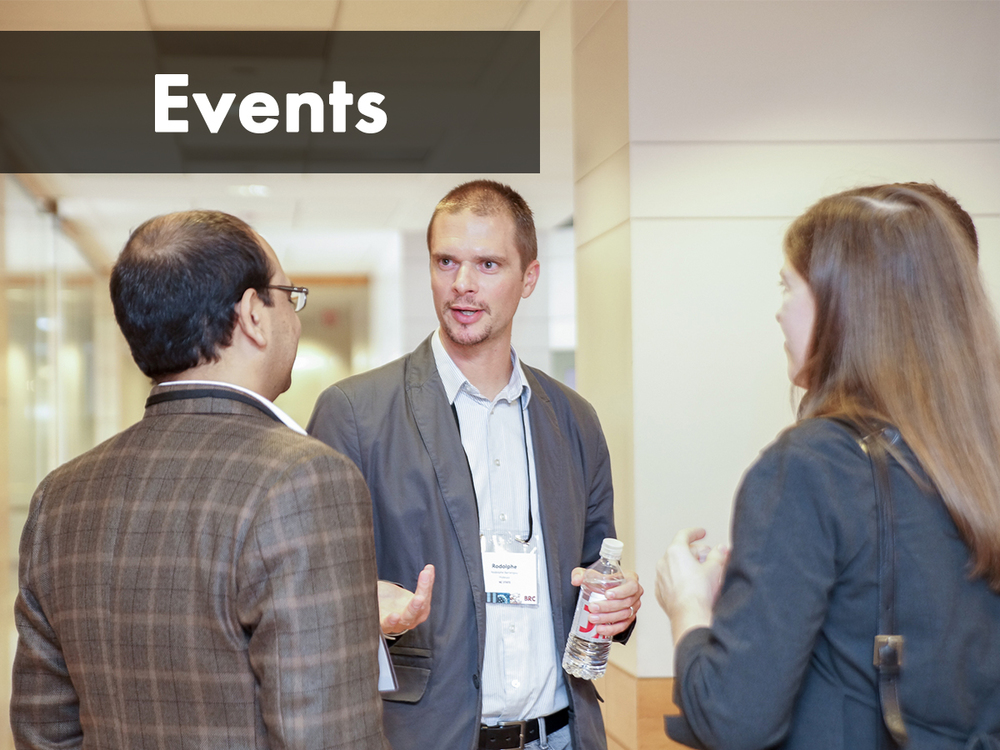 Get involved through conferences, symposia, webinars, Meetups, and committees, building relationships by presenting your research and planning with us.