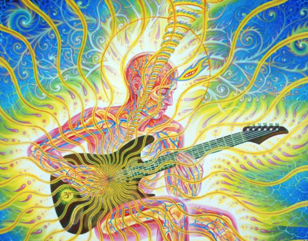 """Guitar Man"" by Alex Grey"