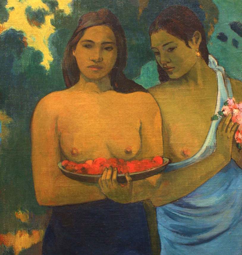 "One of my favorite expressions of feminine beauty: Paul_Gauguin's ""Two Tahitian Women"""