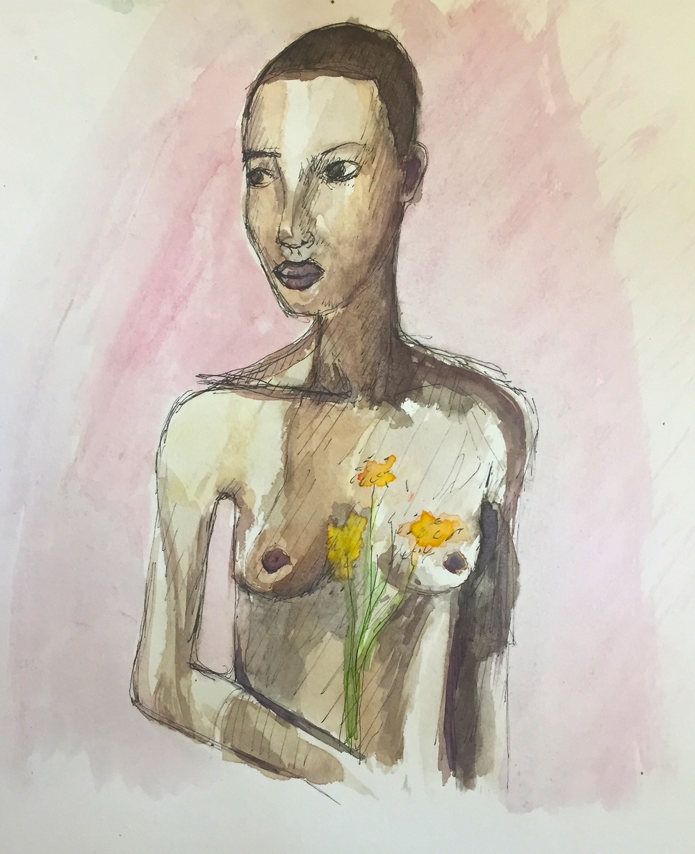 """""""Nude with Flowers"""""""