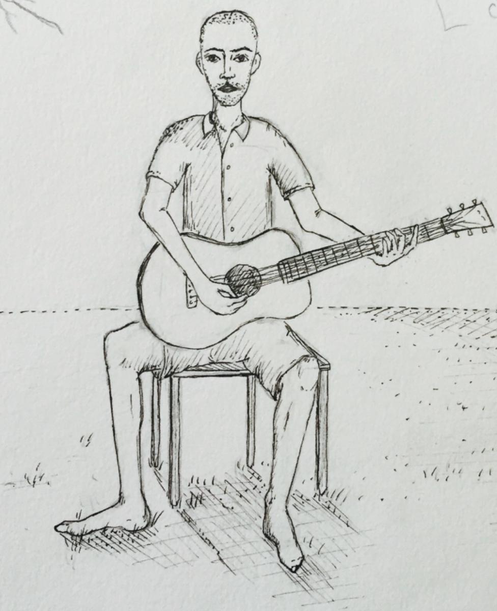 Self portrait by Rosko Green
