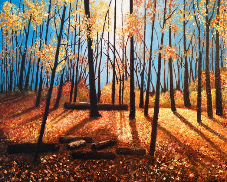 """Autumn Light"" painted in 2014 by Rosko Green"
