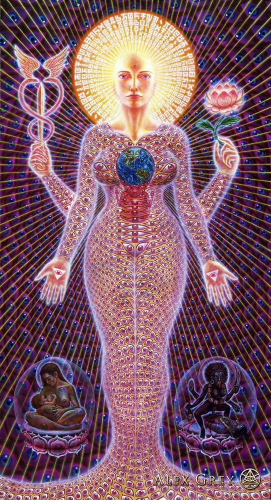 Sophia, as depicted by Alex Grey